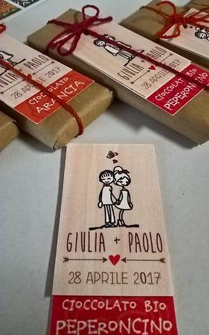 Cioccolato di Modica personalizzato per una bomboniera solidale golosa