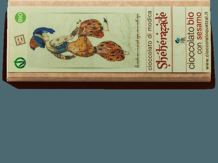 Sherazade, Cioccolata di Modica con sesamo e arancia bio, 60 gr