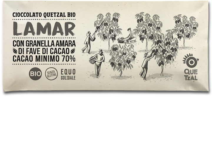 Cioccolato Quetzal naturale al 70% bio LaMar