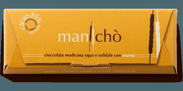 Cioccolato di Modica con manna delle Madonie 85% cacao, 50 gr