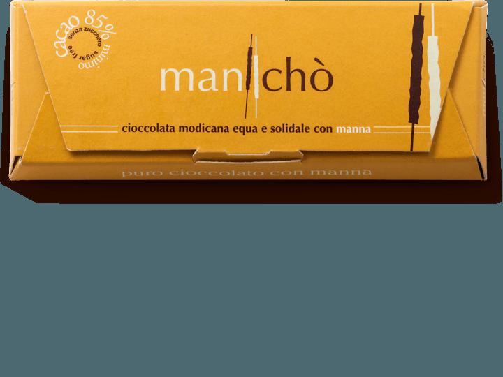 Cioccolato di Modica bio con manna delle Madonie 85% cacao, 50 gr