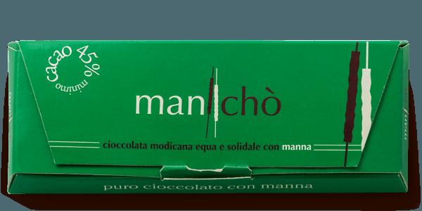 Cioccolato di Modica bio con manna delle Madonie, 50 gr