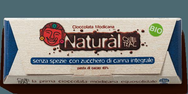 Cioccolato Quetzal Natural con zucchero Mascobado